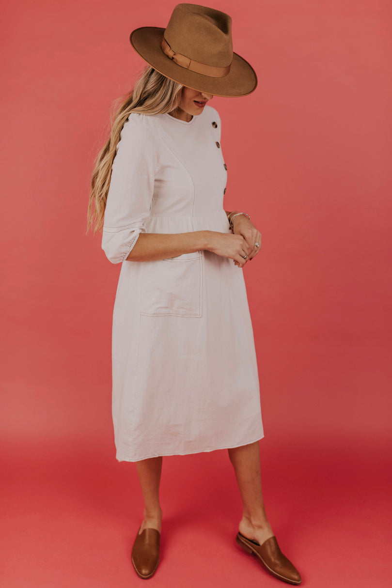 Button Detail Dress | ROOLEE
