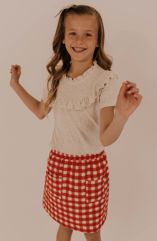 Girls Ruffle Blouse | ROOLEE