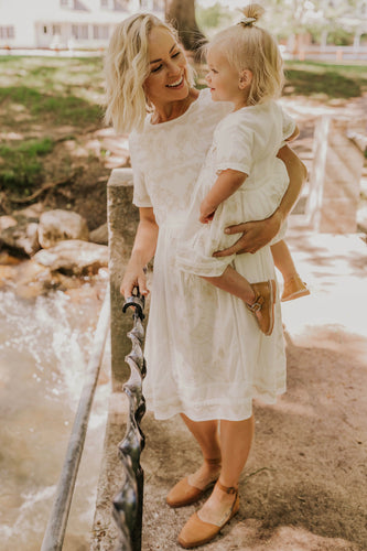 Mom and Daughter Embroidered Matching Dress | ROOLEE