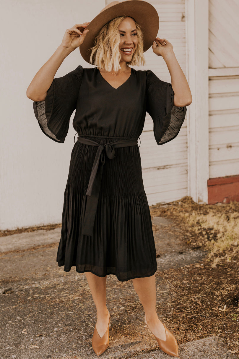 Pleated Modest Dress | ROOLEE