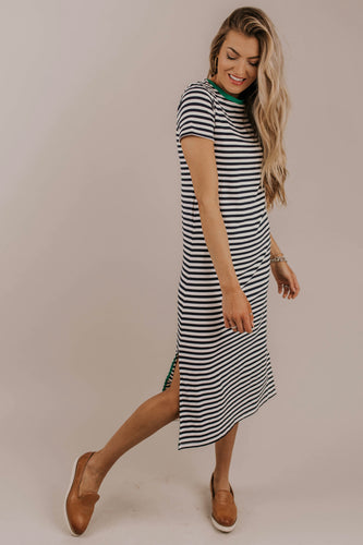 Navy Stripe Dress | ROOLEE