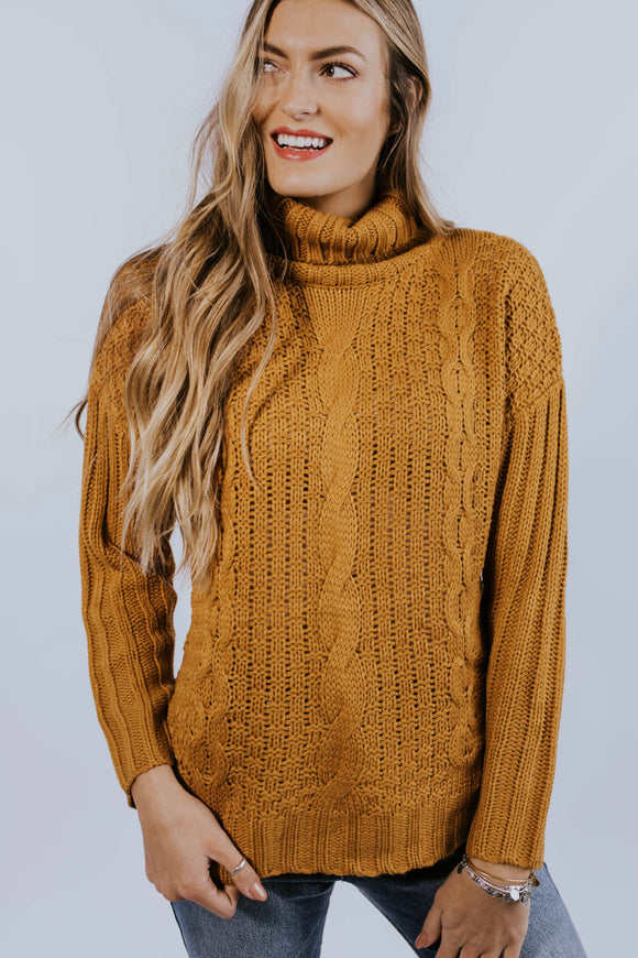 Aurora Cable Knit Sweater | ROOLEE