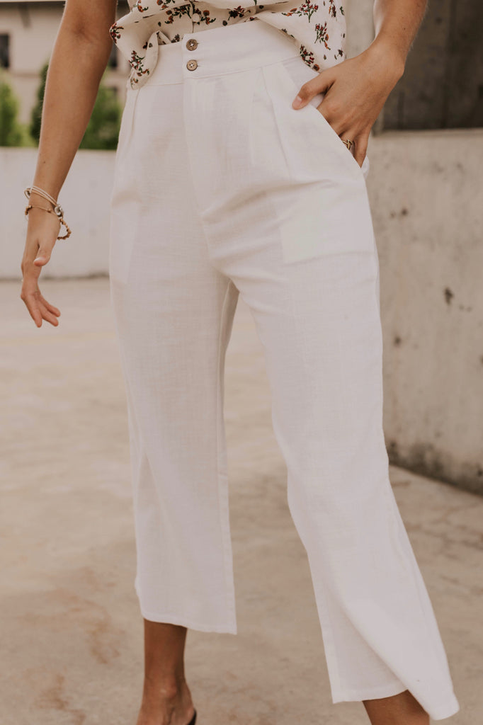 White Summer Slacks | ROOLEE