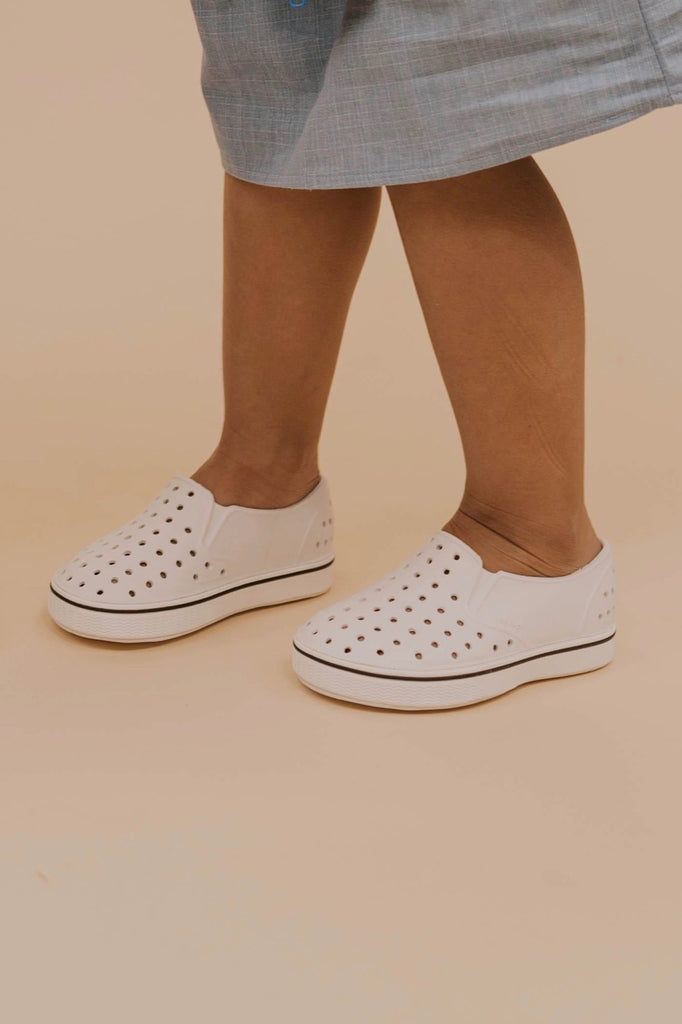 Kids White Rubber Sneaker | ROOLEE