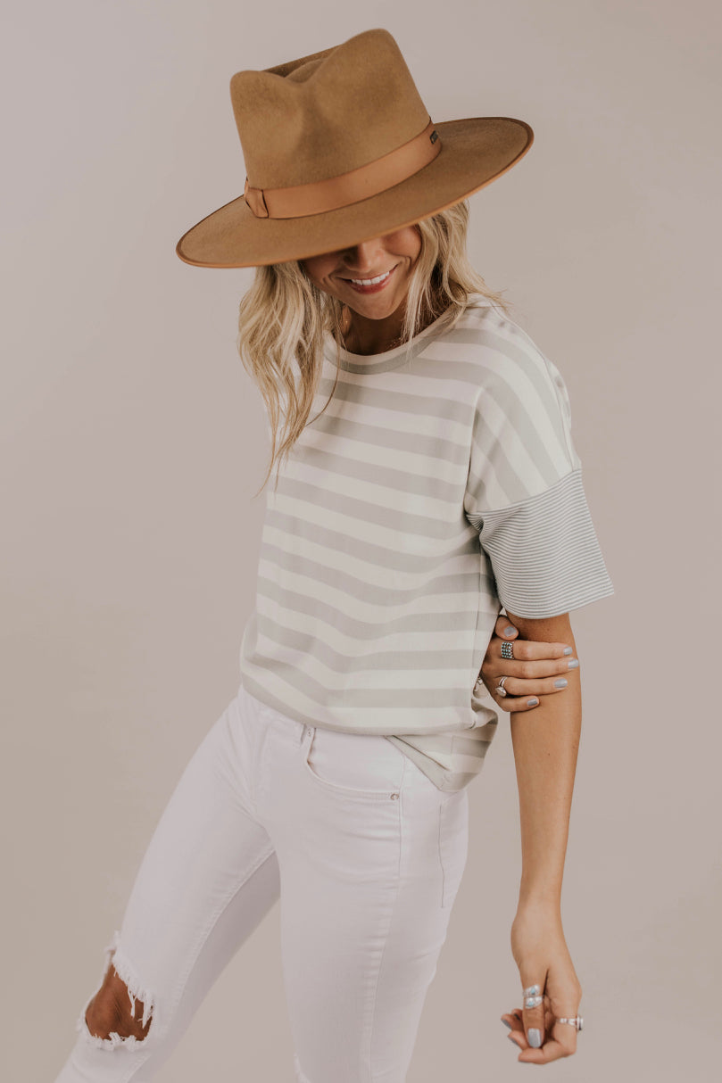 Mint Stripe Top Outfit Ideas | ROOLEE