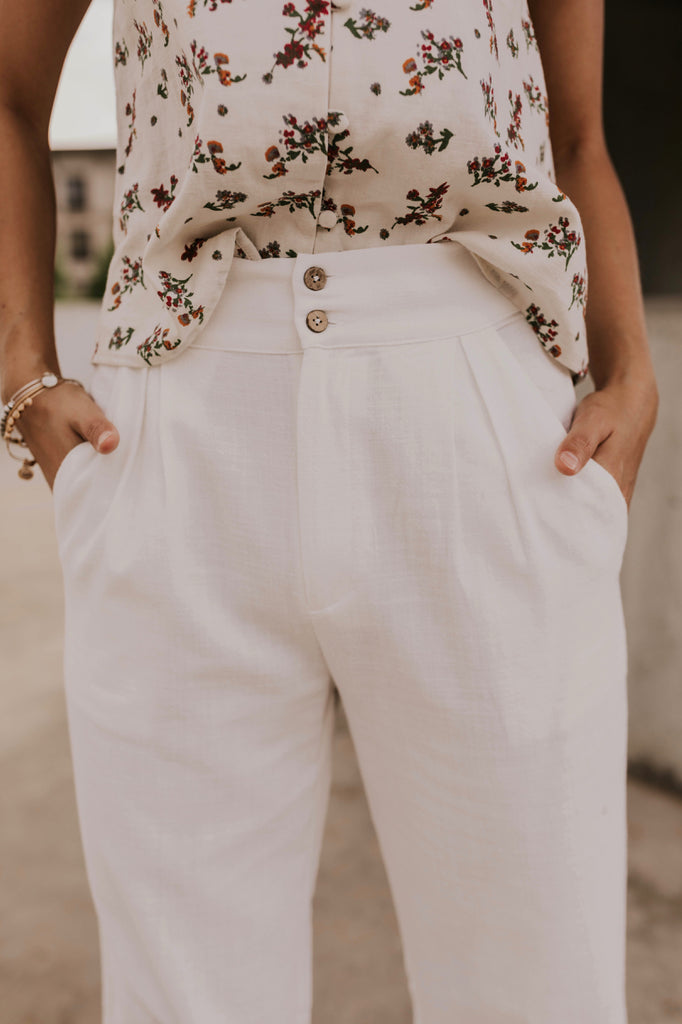 Pocket Linen Pants | ROOLEE
