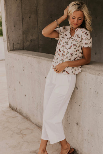 Floral Buttoned Top Summer | ROOLEE