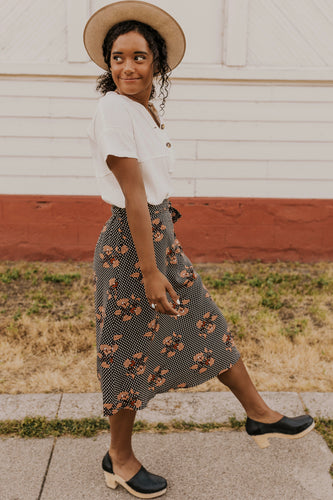 Fall Midi Skirt | ROOLEE