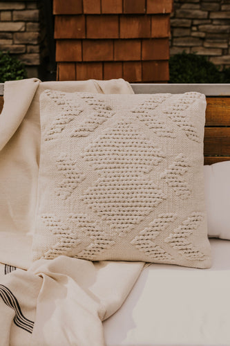 White Woven Pillow | ROOLEE