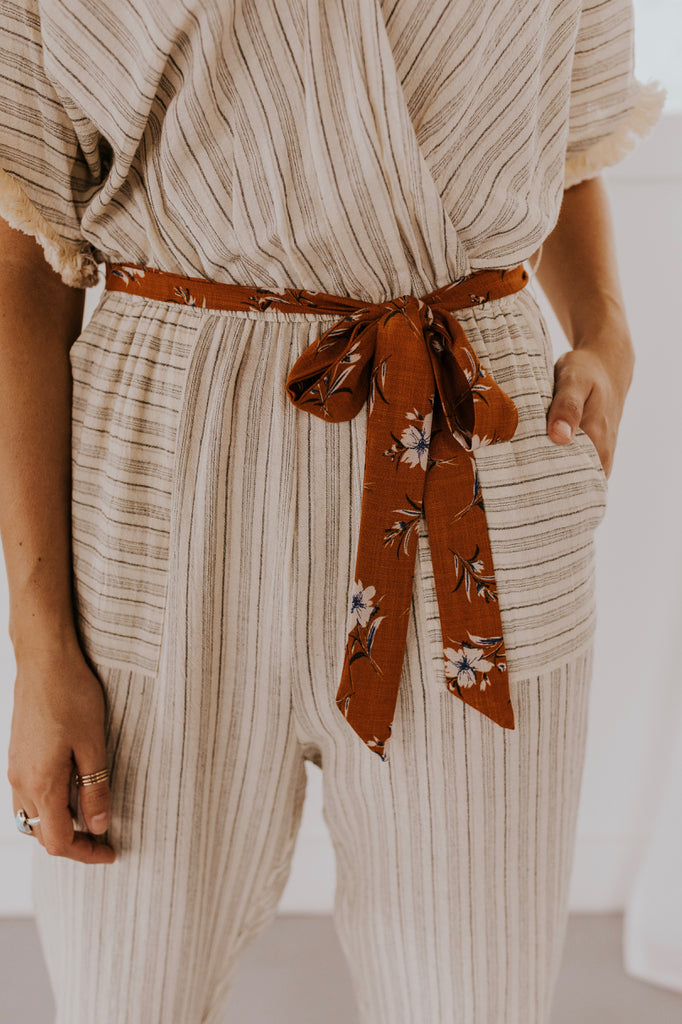 Nursing Friendly Stripe Jumpsuit | ROOLEE