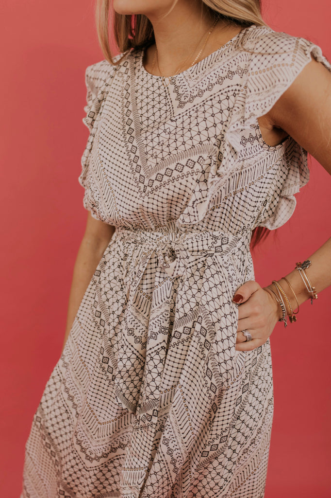 Pattern Modest Midi Dress | ROOLEE