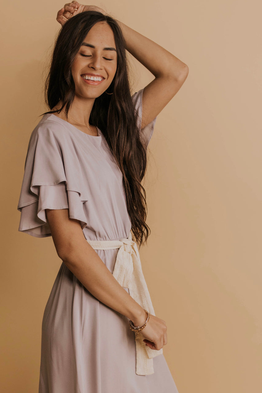 Cute Ruffle Sleeve Dresses | ROOLEE