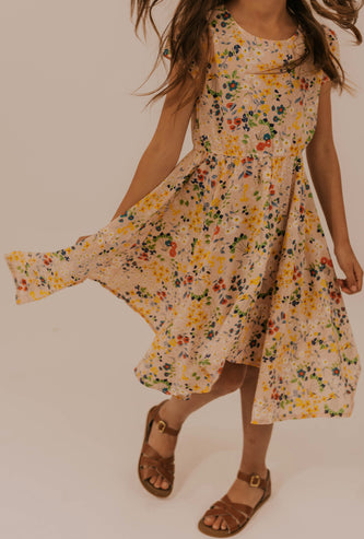 Floral Print Girl's Dress | ROOLEE