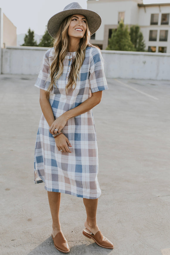 The Ellis Plaid Dress | ROOLEE