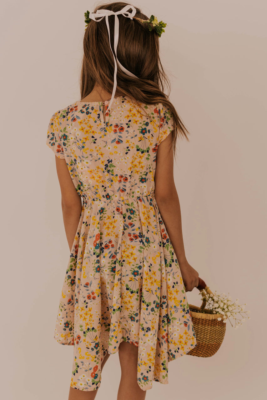Pink Floral Print Dress | ROOLEE