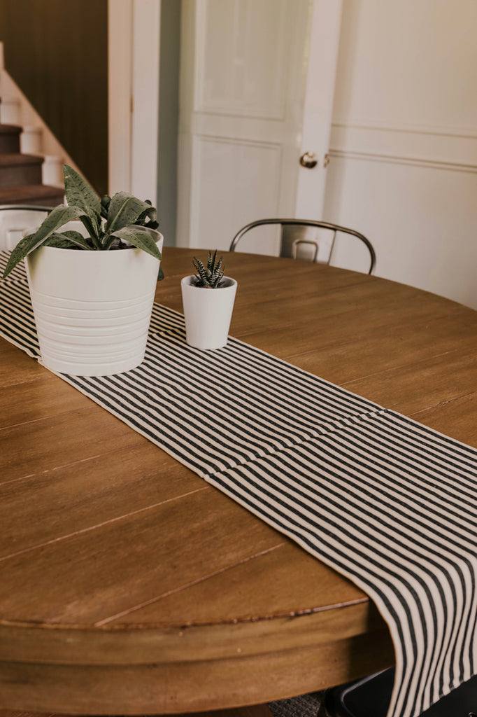 Cotton Table Runner Stripes | ROOLEE