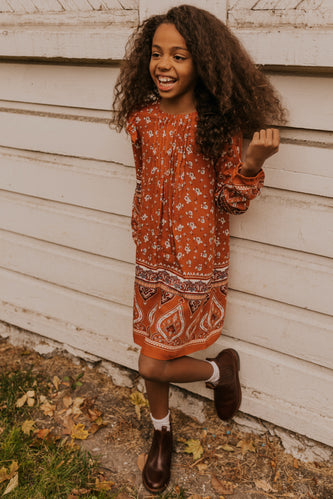 Printed Fall Dress | ROOLEE
