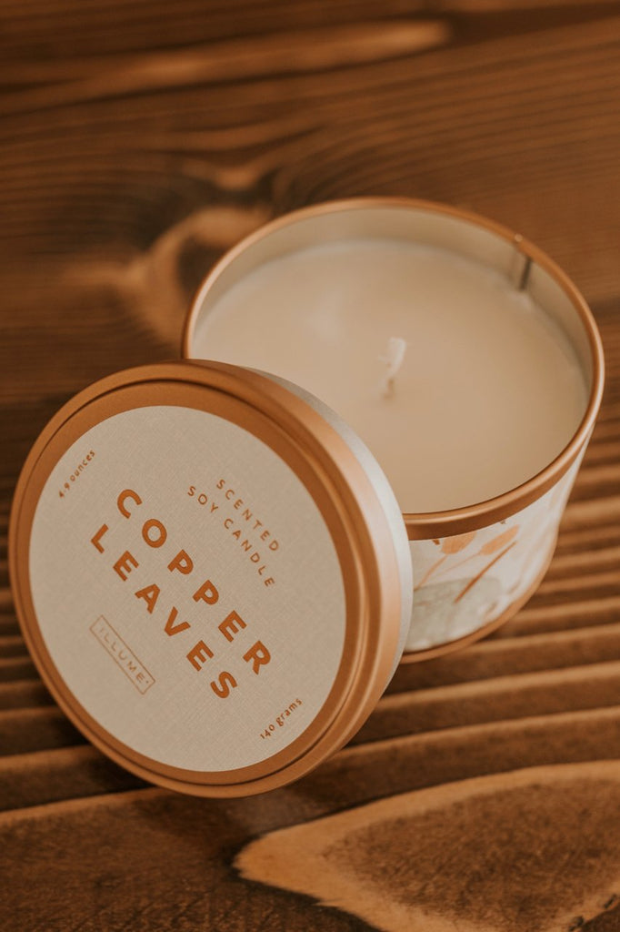 Copper Leaves Candle | ROOLEE