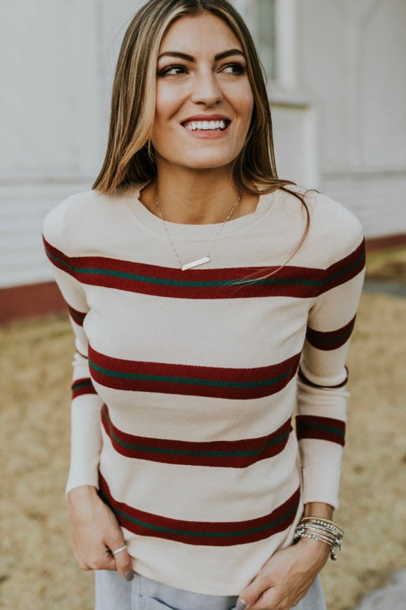Theodore Stripe Sweater | ROOLEE