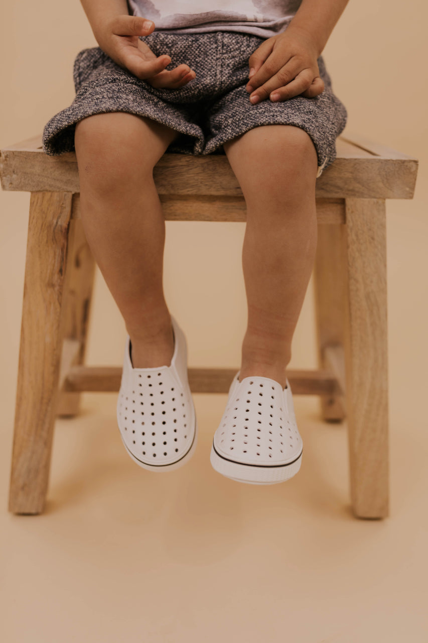 White Slip On Sneakers | ROOLEE