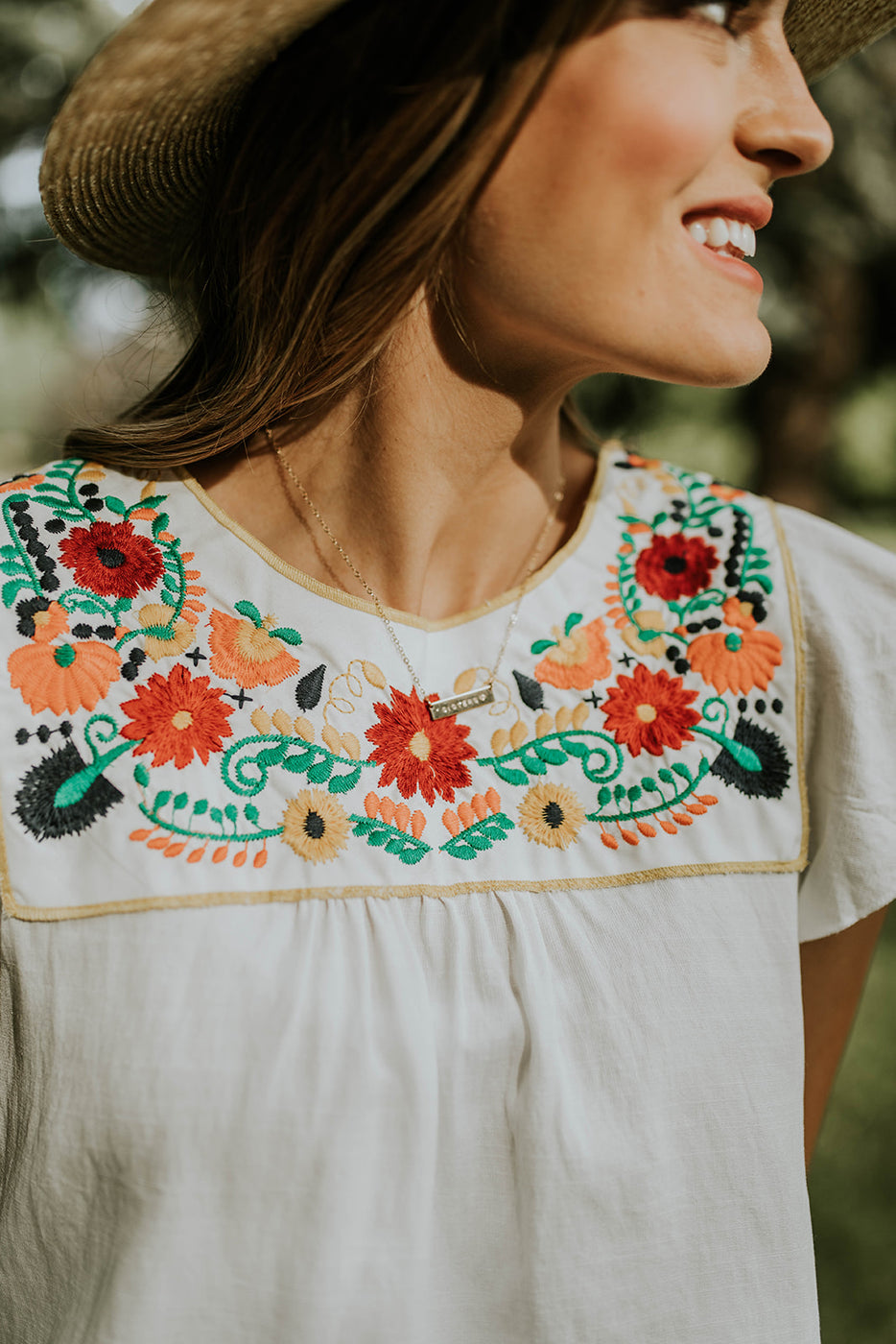 Floral Embroidered Blouse | ROOLEE