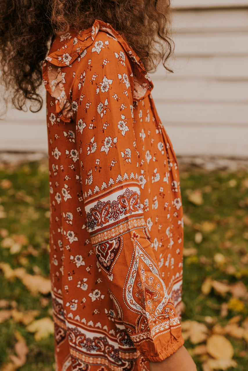 Orange Floral Dress | ROOLEE