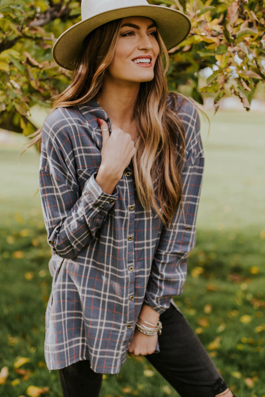Blue Flannel Outfit | ROOLEE