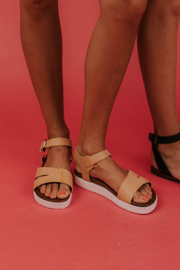 Sporty Tan Sandals | ROOLEE