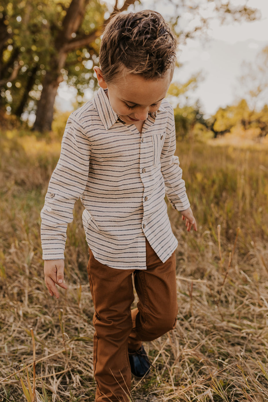 Multi Stripe Boys Shirt | ROOLEE