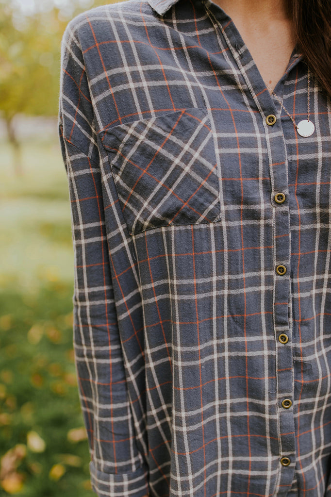 Oversized Blue Flannel | ROOLEE