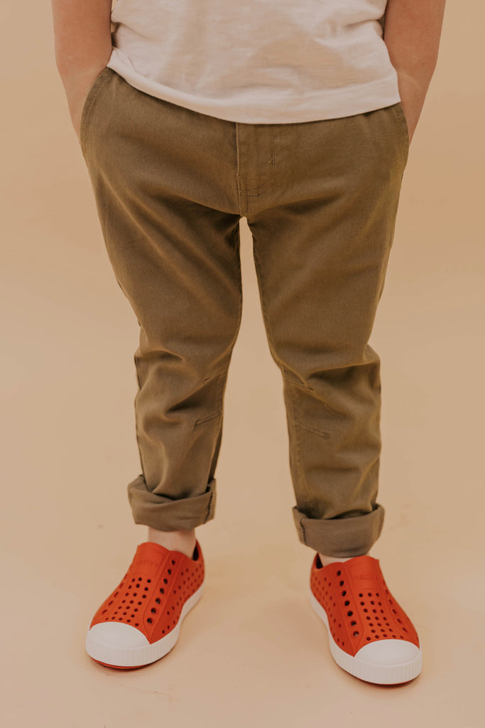 Olive Pants for Boys | ROOLEE