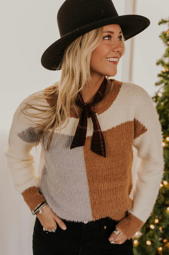 Simple Colorblock Sweater For Women | ROOLEE