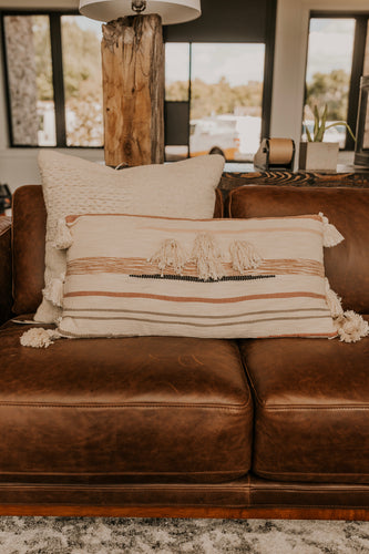 Large Pillow with Tassels | ROOLEE