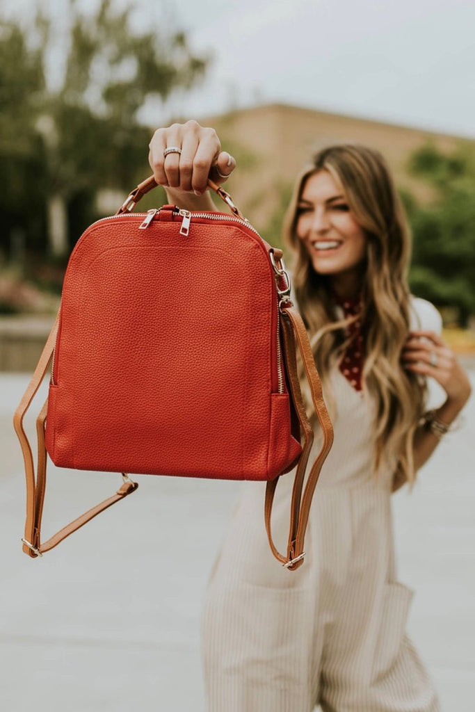 Little Manhattan Backpack in Red | ROOLEE