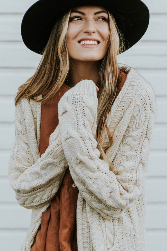 Long Sleeve Knit Cardigan | ROOLEE
