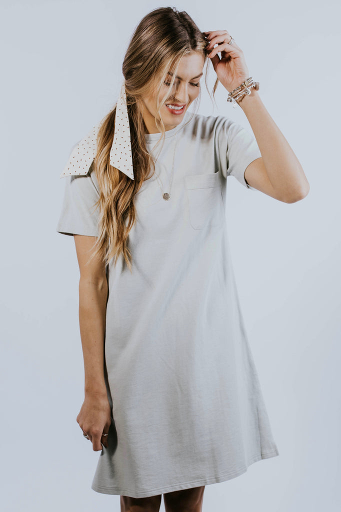 Ezra Pocket MOM Dress in Mint Green | ROOLEE