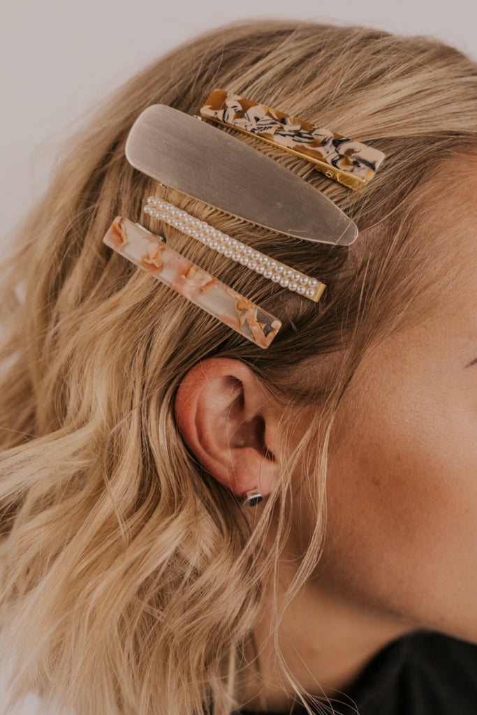 Pack of Modern Barrettes | ROOLEE