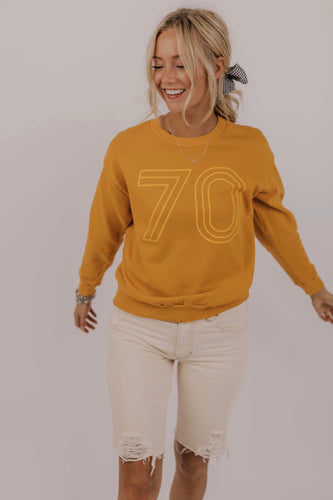 Retro Yellow Sweatshirt | ROOLEE