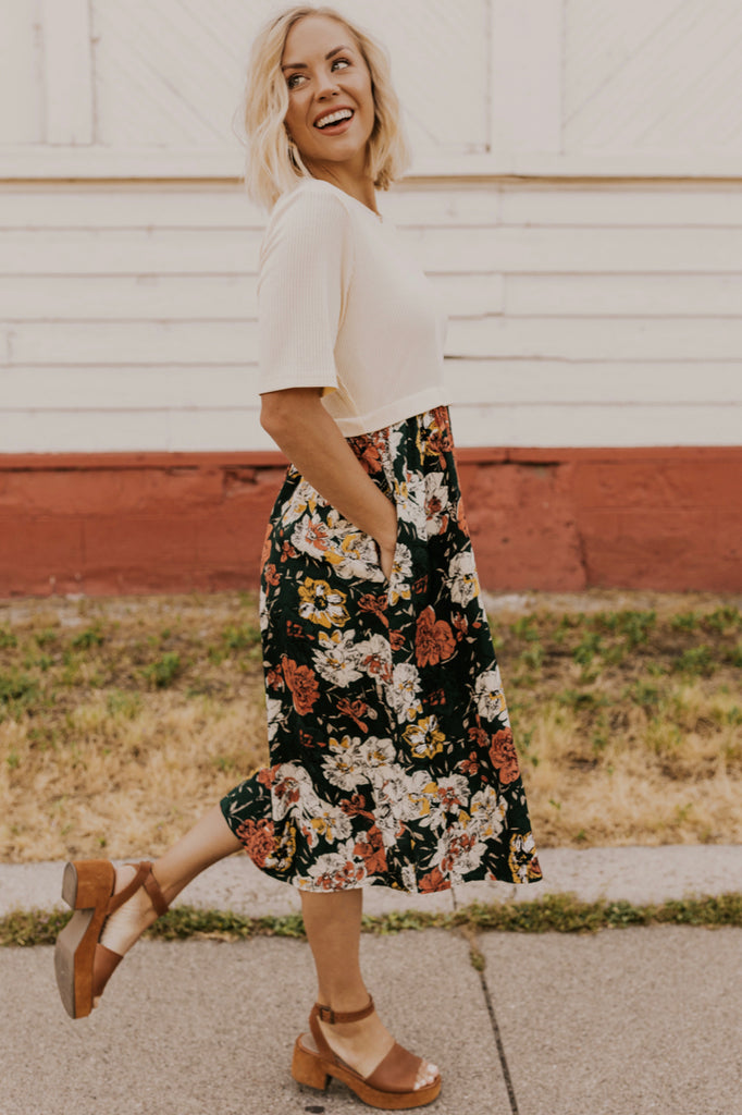 Autumn Floral Dress | ROOLEE