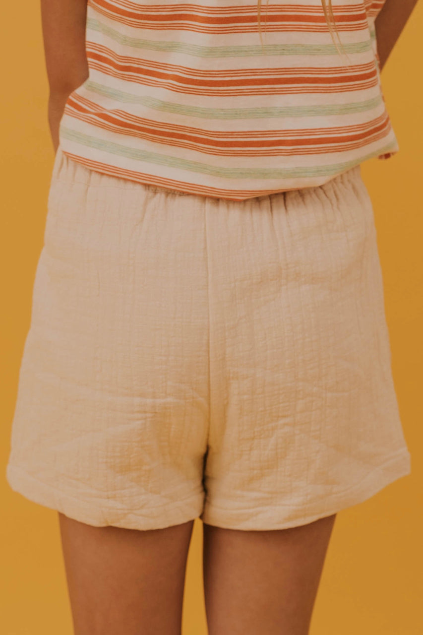 Girls Off White Shorts | ROOLEE