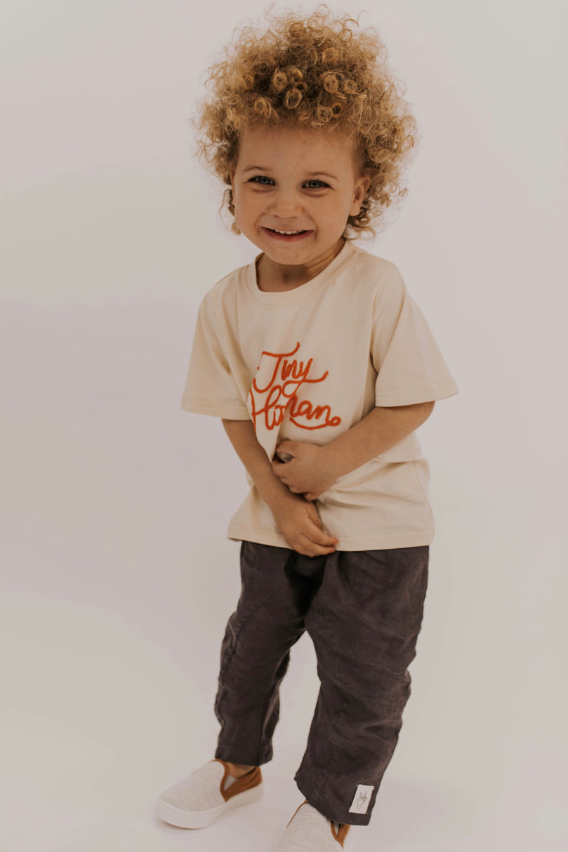 Kids Embroidered Tee | ROOLEE