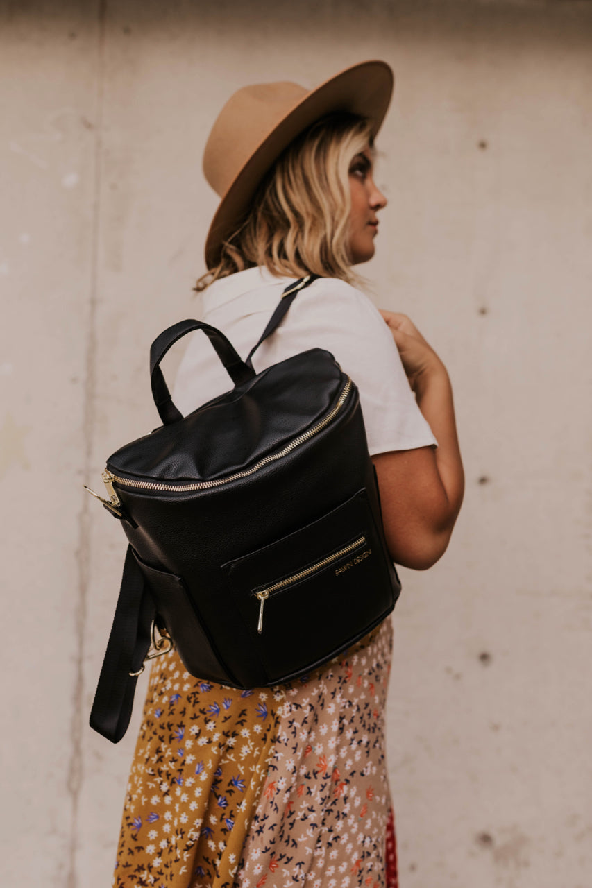 Black Diaper Bag for Women | ROOLEE