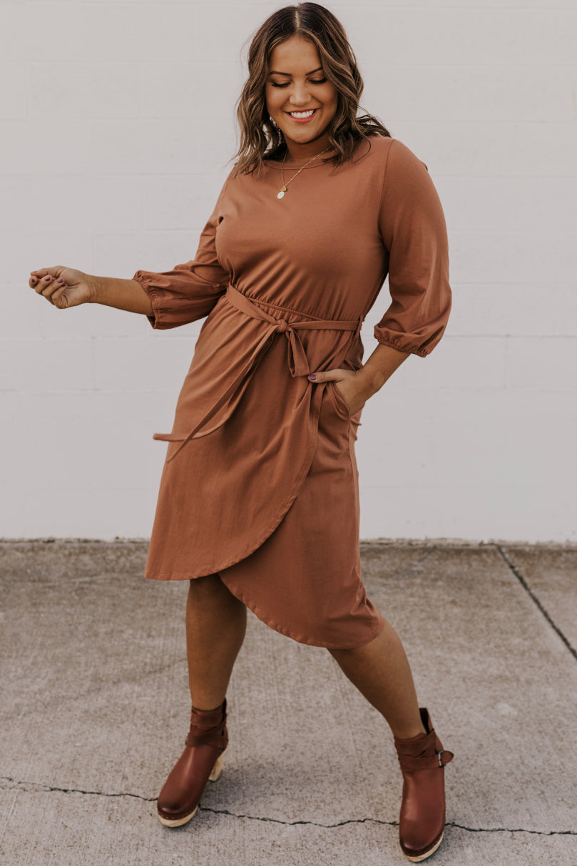 Tie Waist Midi Dress | ROOLEE