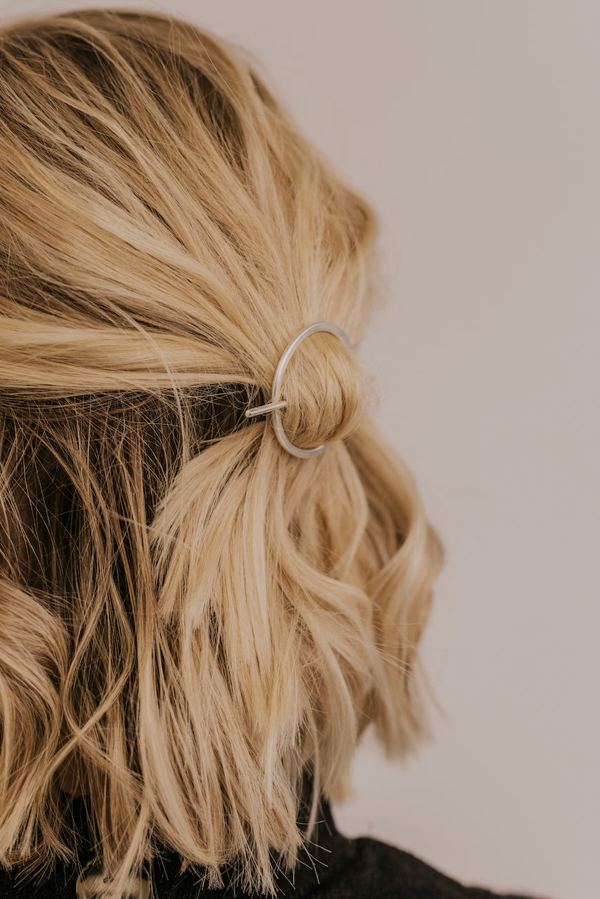 Silver Simple Hair Clips | ROOLEE