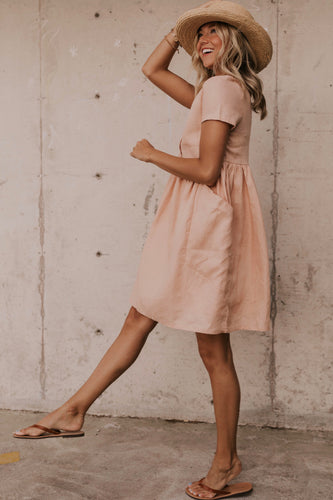 Blush Babydoll Dress | ROOLEE