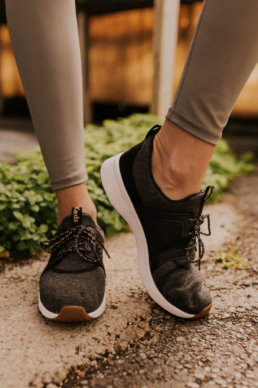 Casual Charcoal Sneakers | ROOLEE