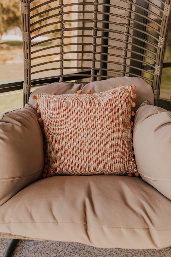 Textured Warm Color Pillow | ROOLEE
