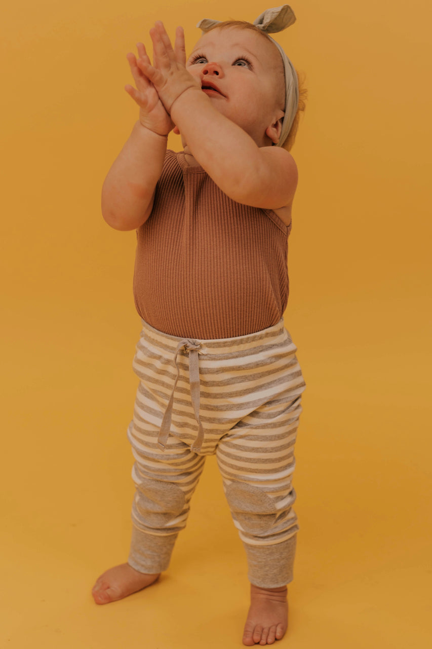 Stripe Knee Patch Baby Joggers | ROOLEE