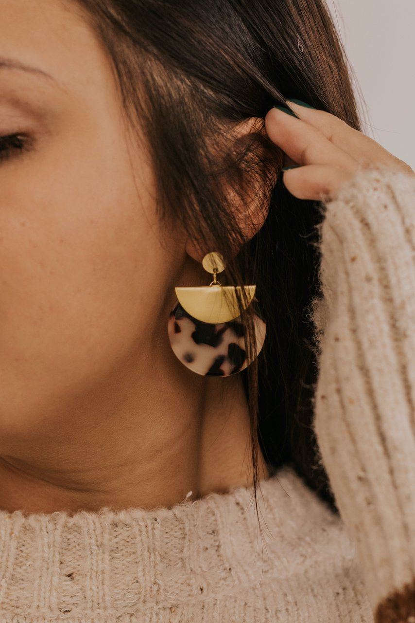 Tortoise Hoop Earrings | ROOLEE