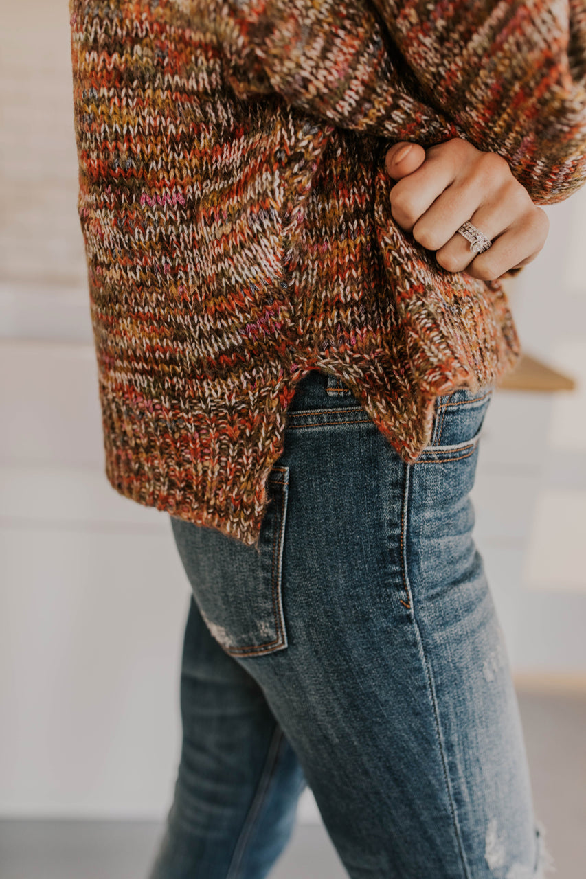 Multicolored Knit Sweater | ROOLEE